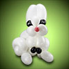 sculpture ballon lapin blanc