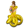 sculpture ballon princesse belle disney