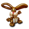 sculpture ballon lapin